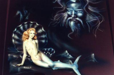 Airbrush Auto Meerjungfrau